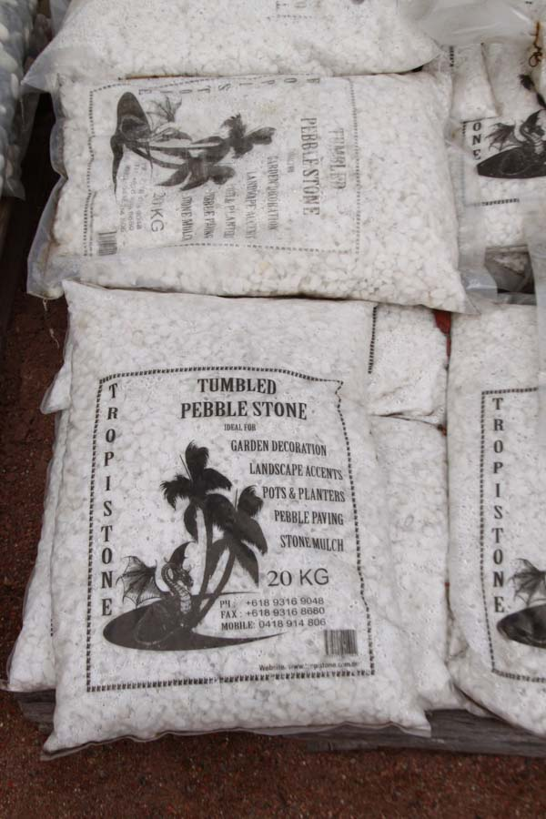 bag white pebbles