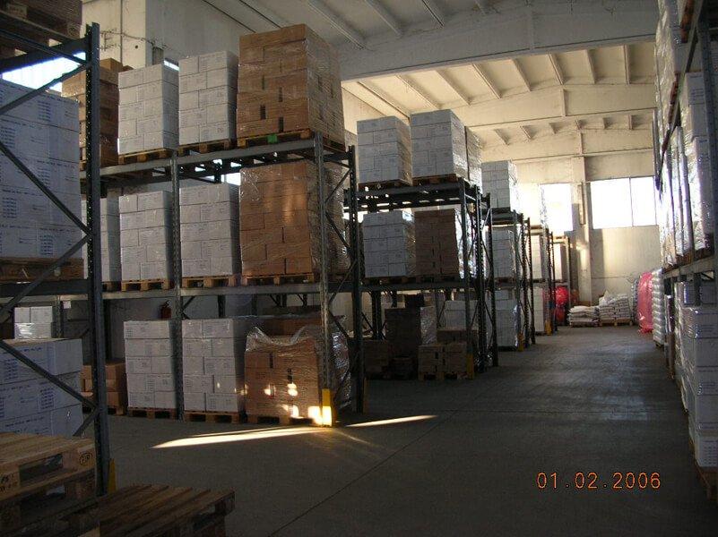 Materiale in un magazzino