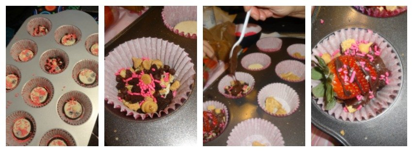 Cupcake Pans & Cupcake Liners Are The Easiest Way To Go For Chocolate Strawberry Smores