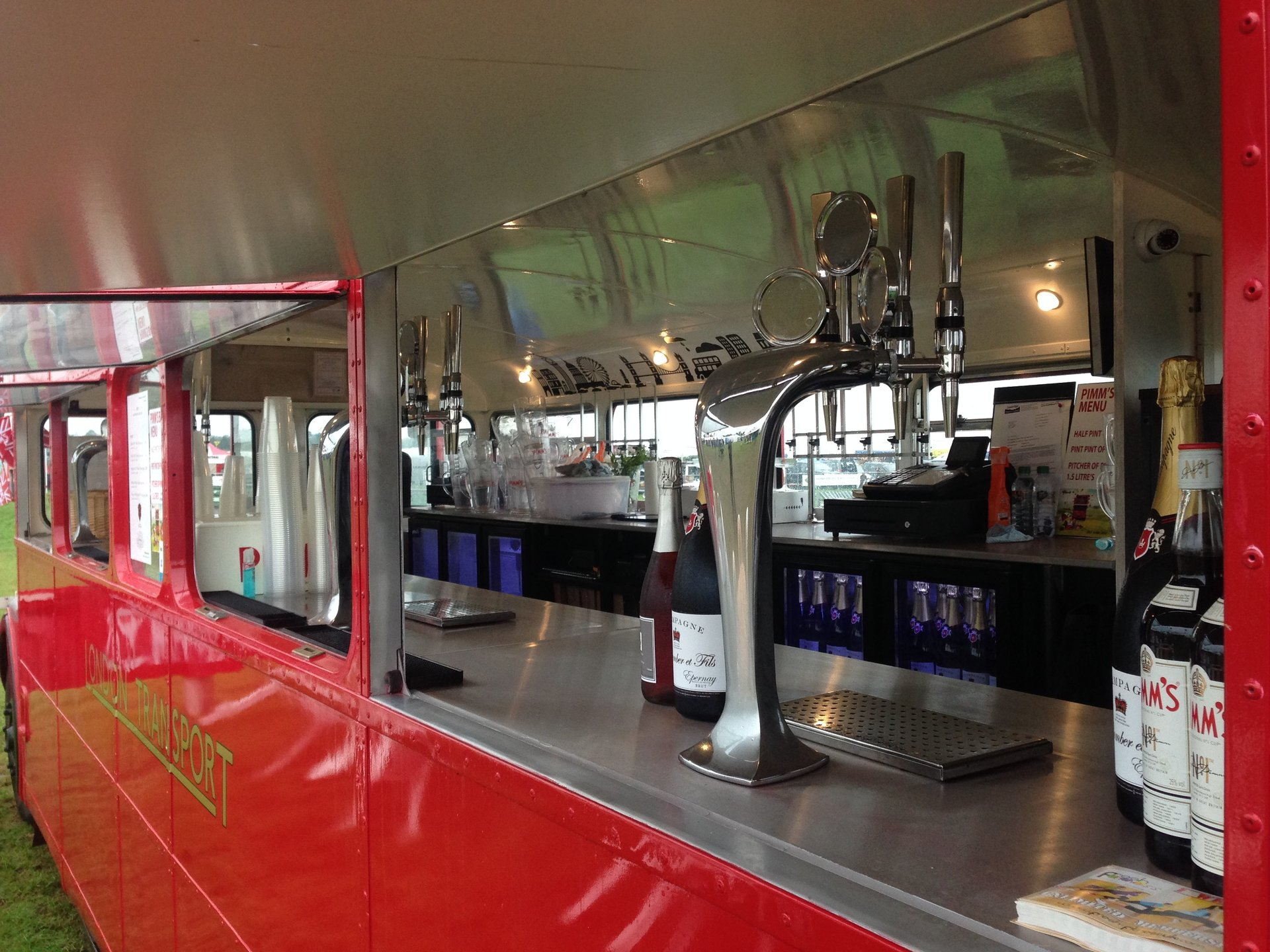 Routemaster mobile bus bar finishing touches!
