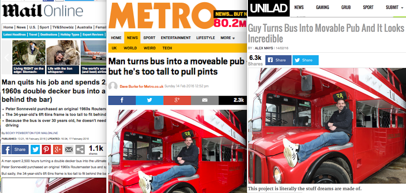 Routemaster Mobile Bus Bar Goes Viral