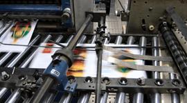 vista ravvicinata di una macchina da stampa