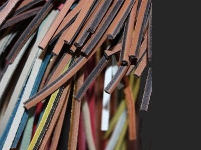 sale of straps in coloured leather