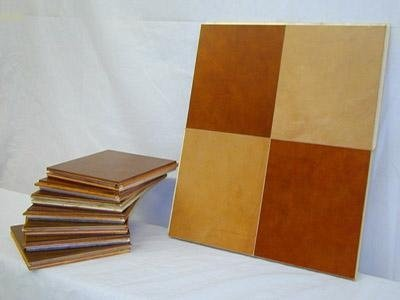 creation of leather tiles