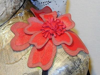 production of nappa leather flowers