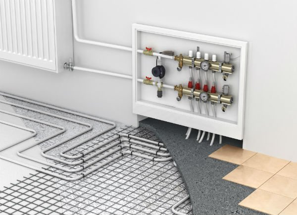 impianto termico in una casa