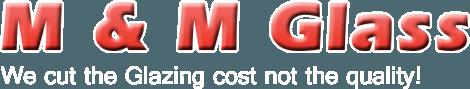 M & M GLASS logo
