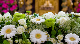 composizioni funebri floreali