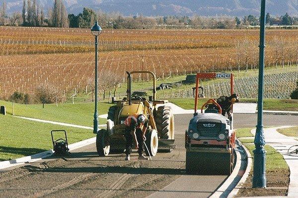 Road excavation in Blenheim