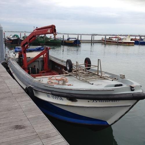 Barche per trasporto opere