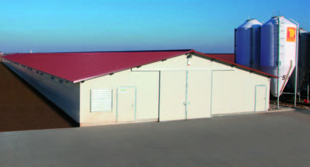 Un capannone visto dall'esterno
