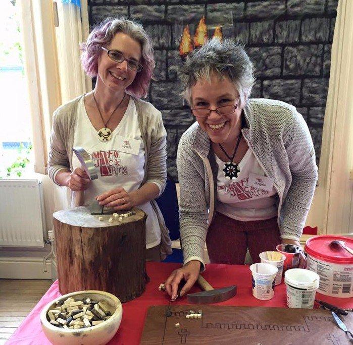 Mosaic Artists, Lynda Knott and Angela Williams.  TomatoJack Arts, Berkeley, Gloucestershire