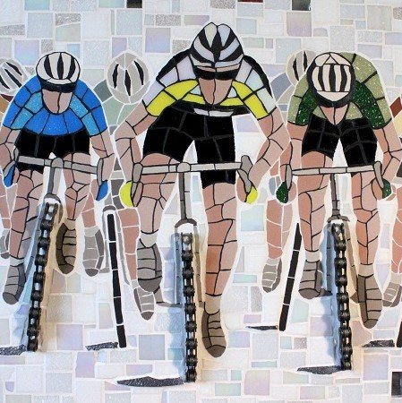 Clyclists mosaic