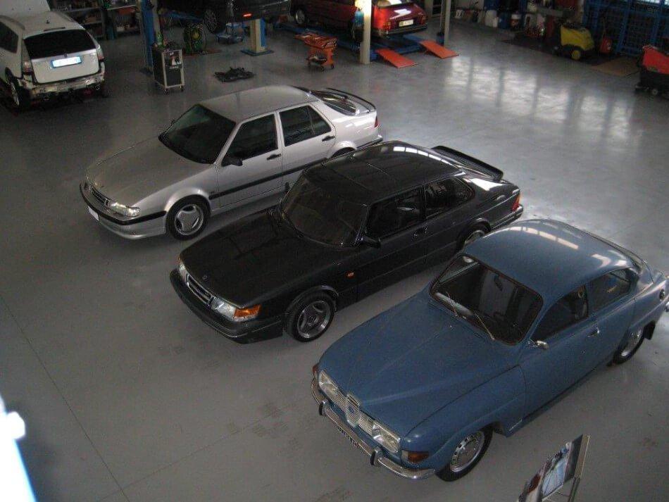 Auto d'epoca Saab messe a nuovo