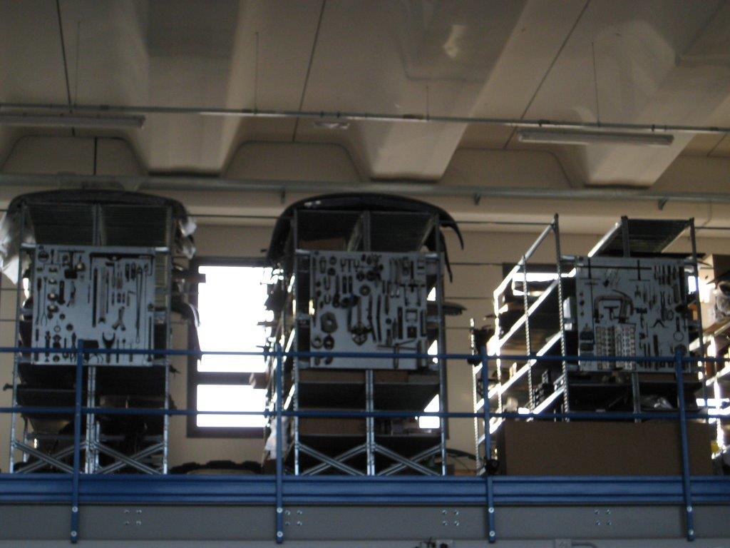 Utensili da meccanico in esposizione