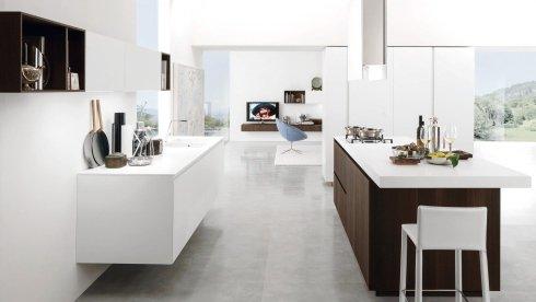 sgabelli per cucina, progettazione cucine, armadi laccati bianchi per cucina