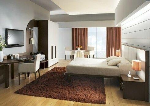 Presso il nostro showroom potrete acquistare strutture letto per l'arredo di stanze d'albergo.