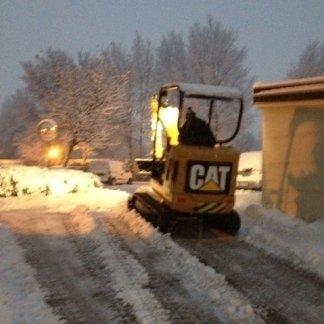 lavori di sgombero neve