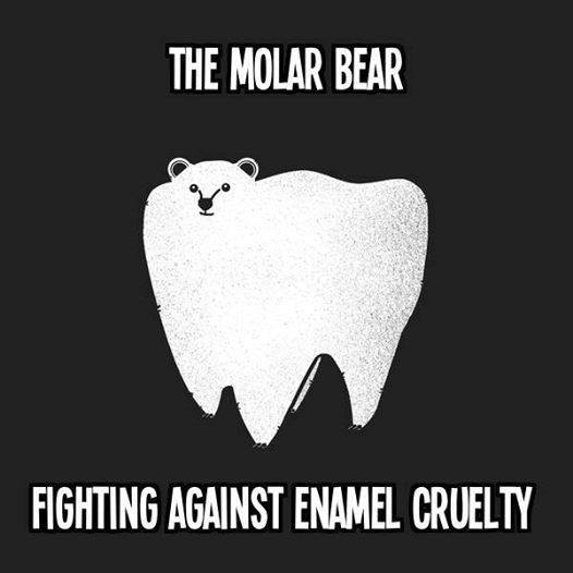 The molar bear fighting against enamel cruelty. Sunday Funnies by Family Dental Centres.