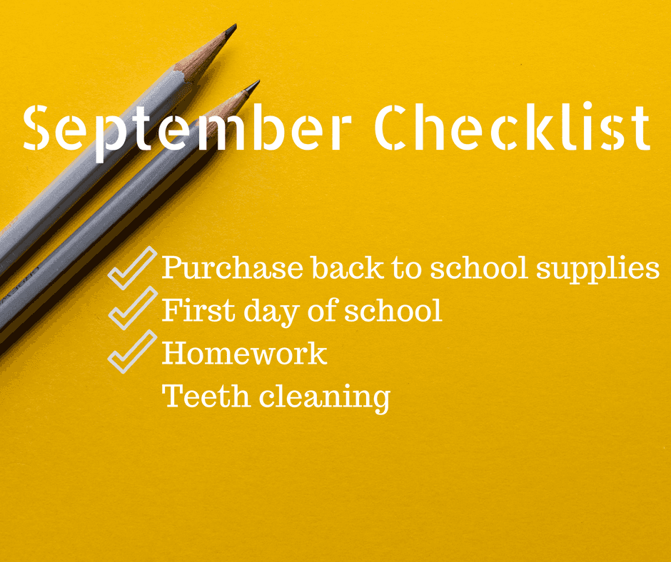 BACK TO SCHOOL CHECKLIST  TEETH CLEANING ORAL HEALTH FAMILY DENTAL CENTRES