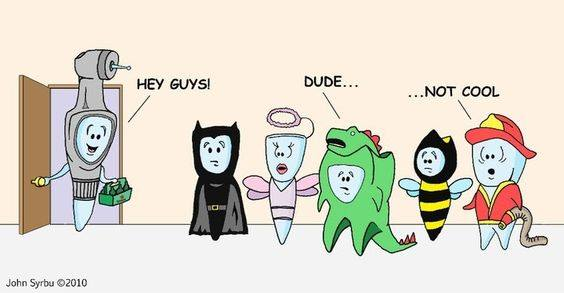 SUNDAY FUNNIES HALLOWEEN COSTUMES FOR TEETH FAMILY DENTAL CENTRES