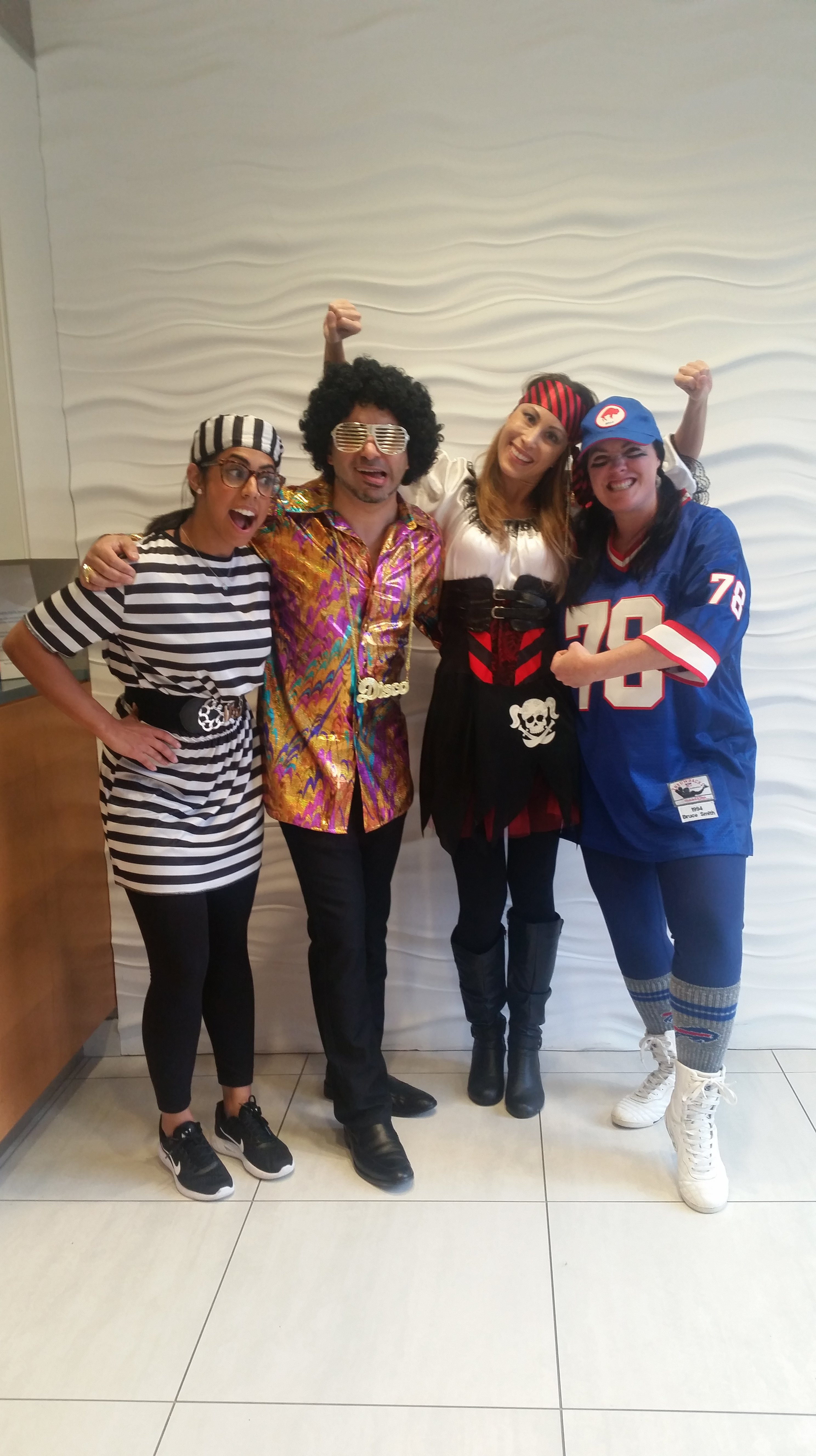 Clayton Heights Family Dental centre goofing around for Halloween