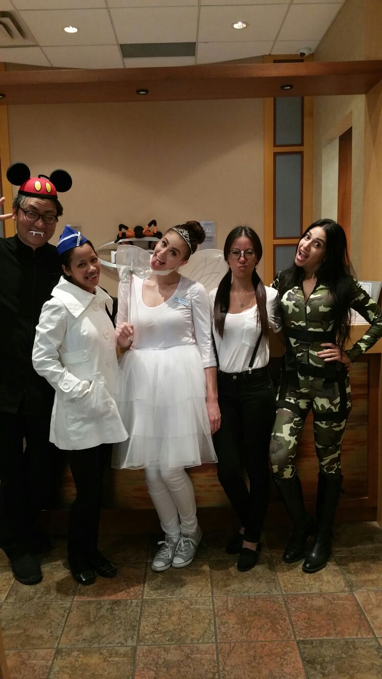 The Madison Centre Family Dental Centres team in Burnaby all dressed up for Halloween