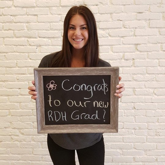 MICAELA NEW REGISTERED DENTAL HYGIENIST GRADUATE AT MADISON CENTRE FAMILY DENTAL