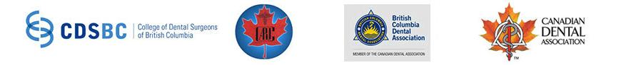 CDSBC, British Columbia Dental Association, Canadian Dental Association, Botox Cosmetic, and Canadian dentistry logos