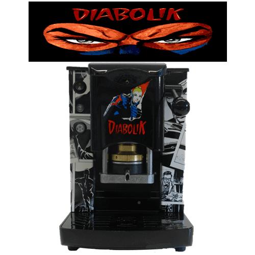 macchina del caffè diabolik color grigio