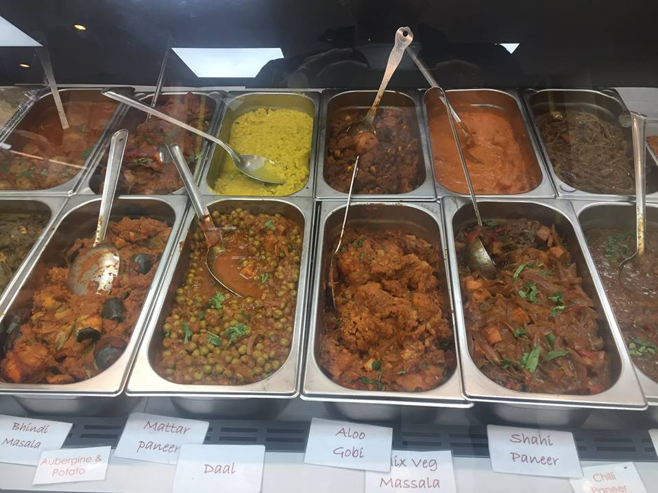 spread of Indian curries
