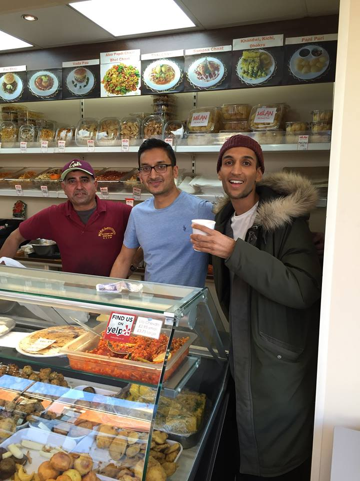 customers enjoying the snacks