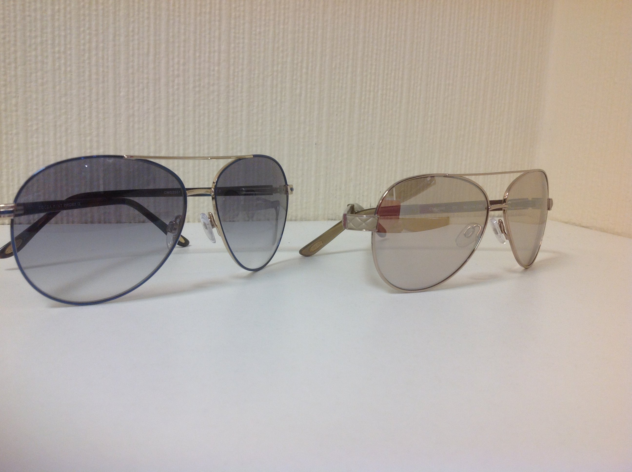 Sunglasses with grey and brown lenses