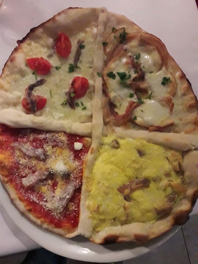 Pizza quattro in uno