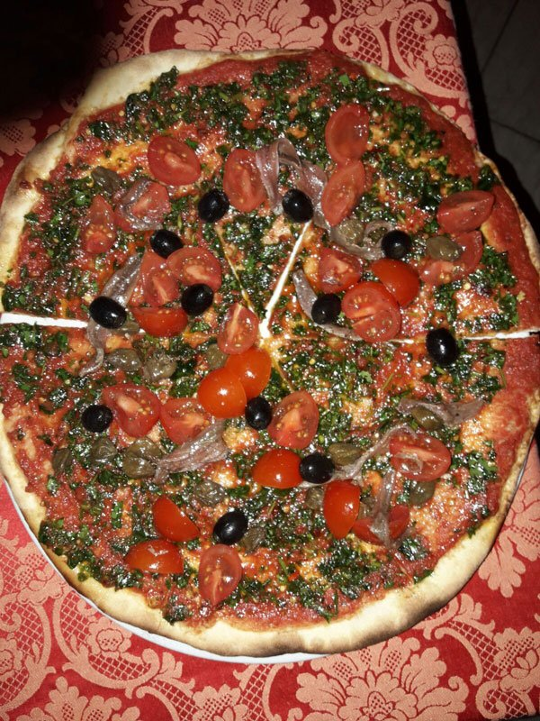 Pizza di acciughe