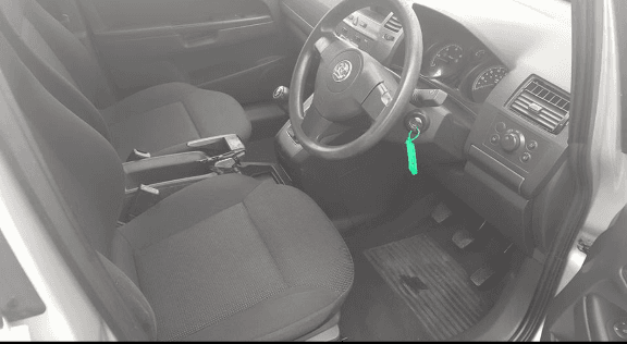 Interior view of the PEUGEOT 206 SPORT