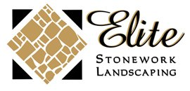 elite stonework and landscaping business logo