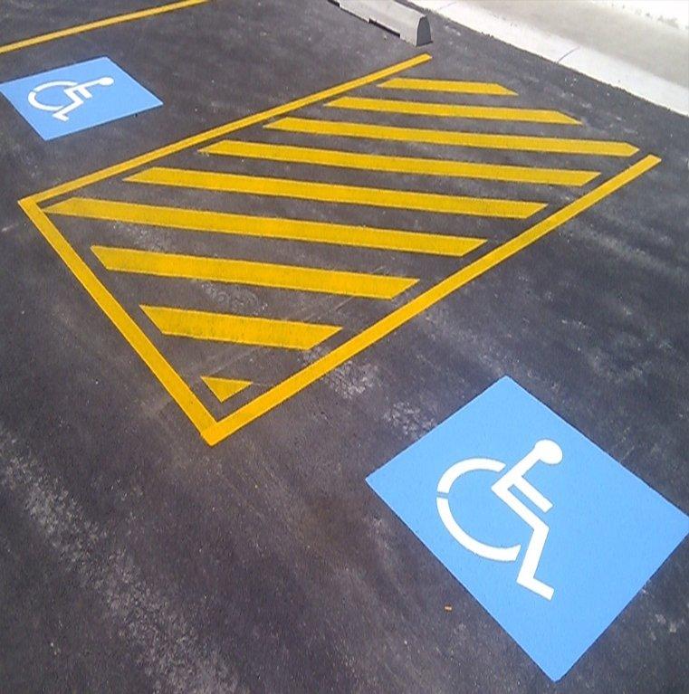 tassie-devil-line-disabled-car-park