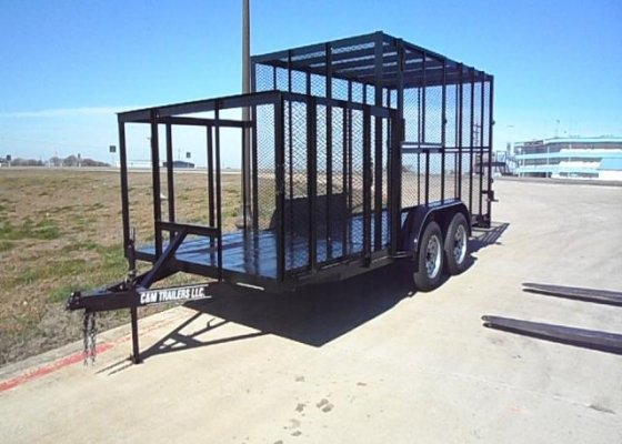 Trash Trailer With Front Section for Two Porta Pottys