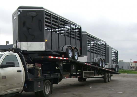 3 Stock trailers going to one of our dealers