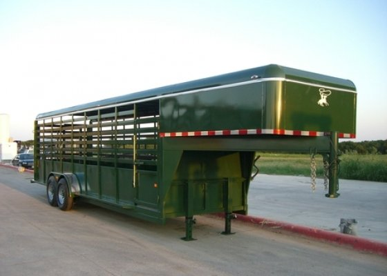 24 Ft GNECK STOCK TRAILER