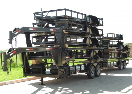 Stack Of Goose Neck Trailers
