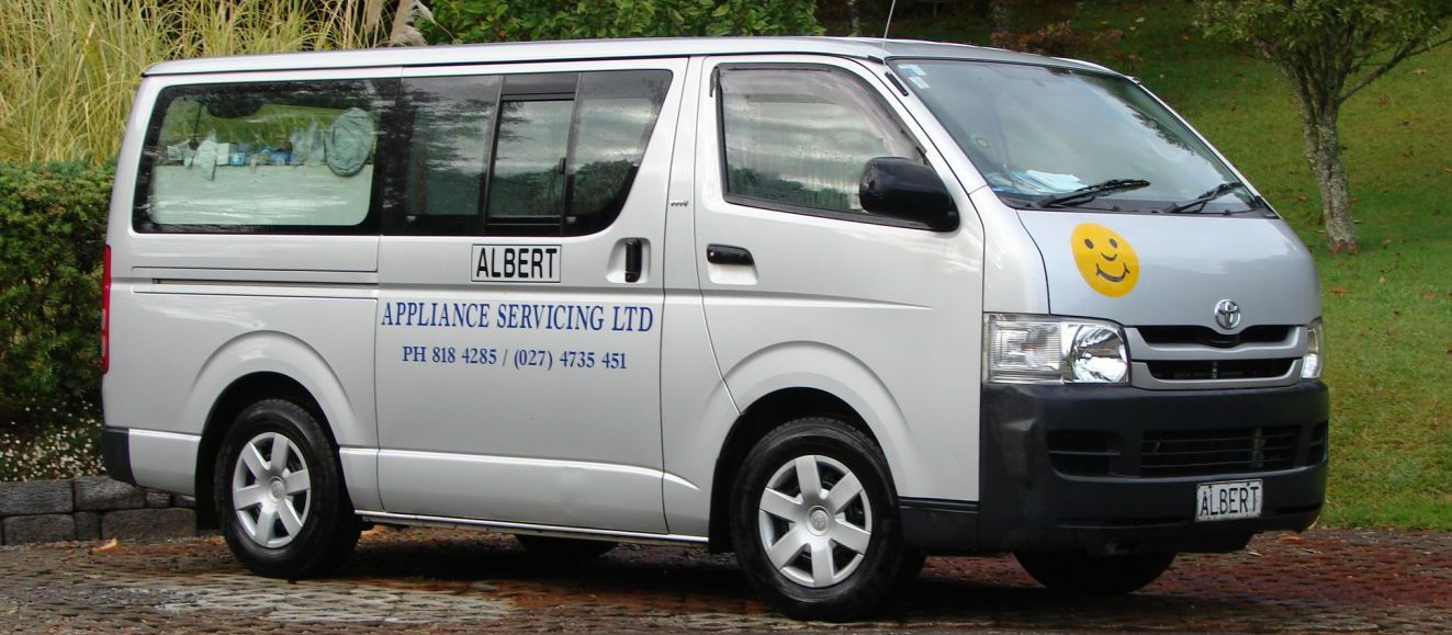 Van owned by Auckland's appliance repairs experts