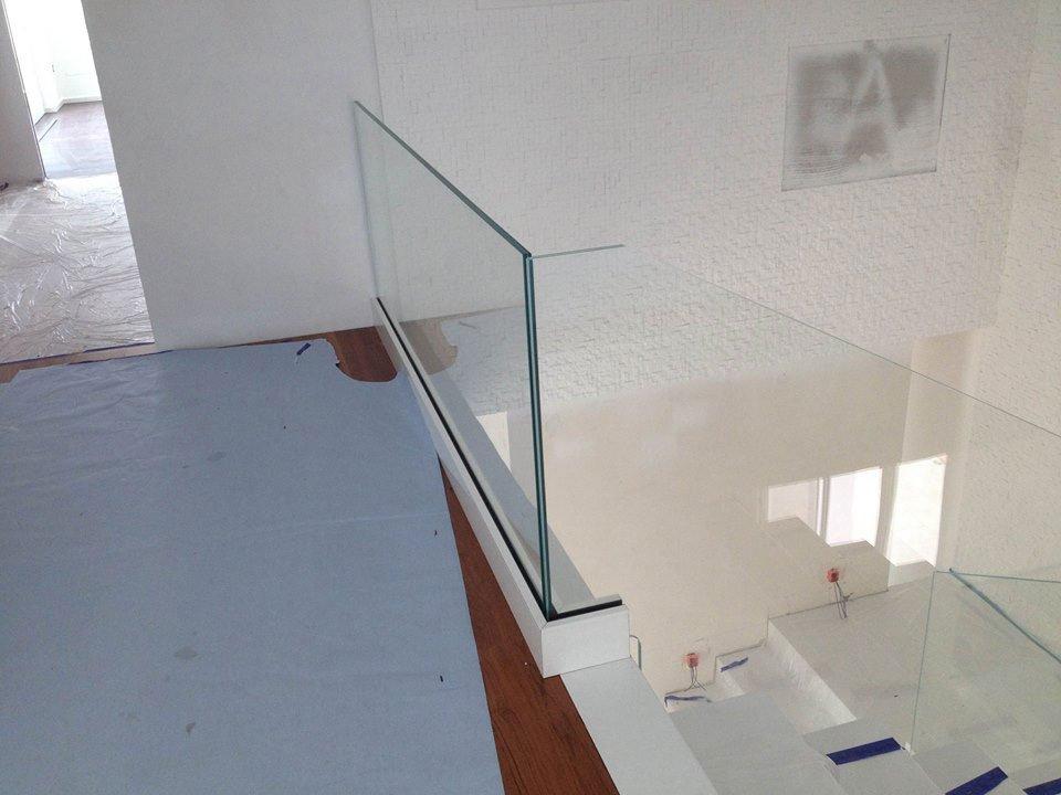 Corrimano in vetro presso Vetreria Ciullo a Ruffano, LE