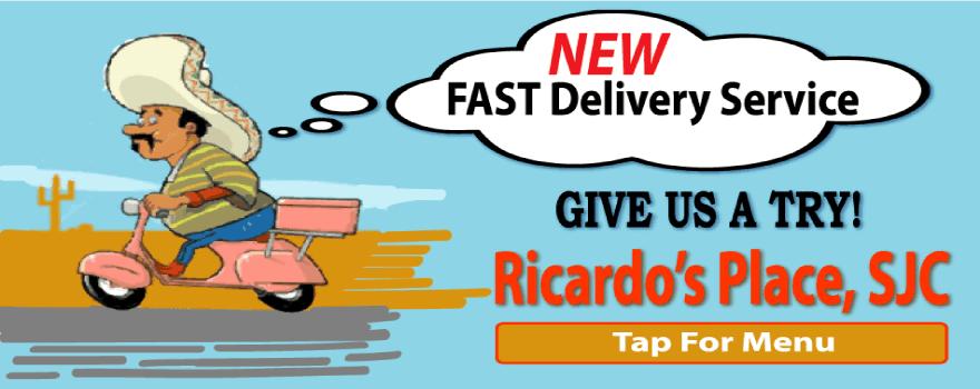 best mexican restaurants that deliver near me at Ricardo's Place SJC 92675