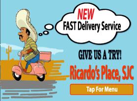 food places that deliver, Ricardo's Place 92675