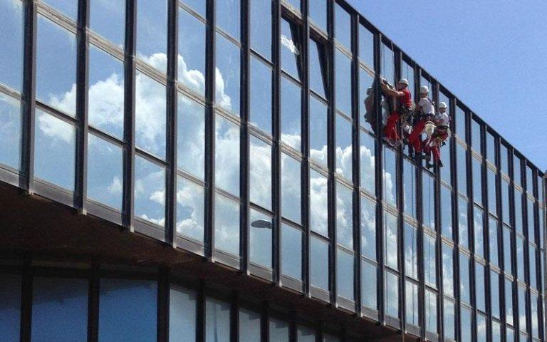 Pulizia vetrate