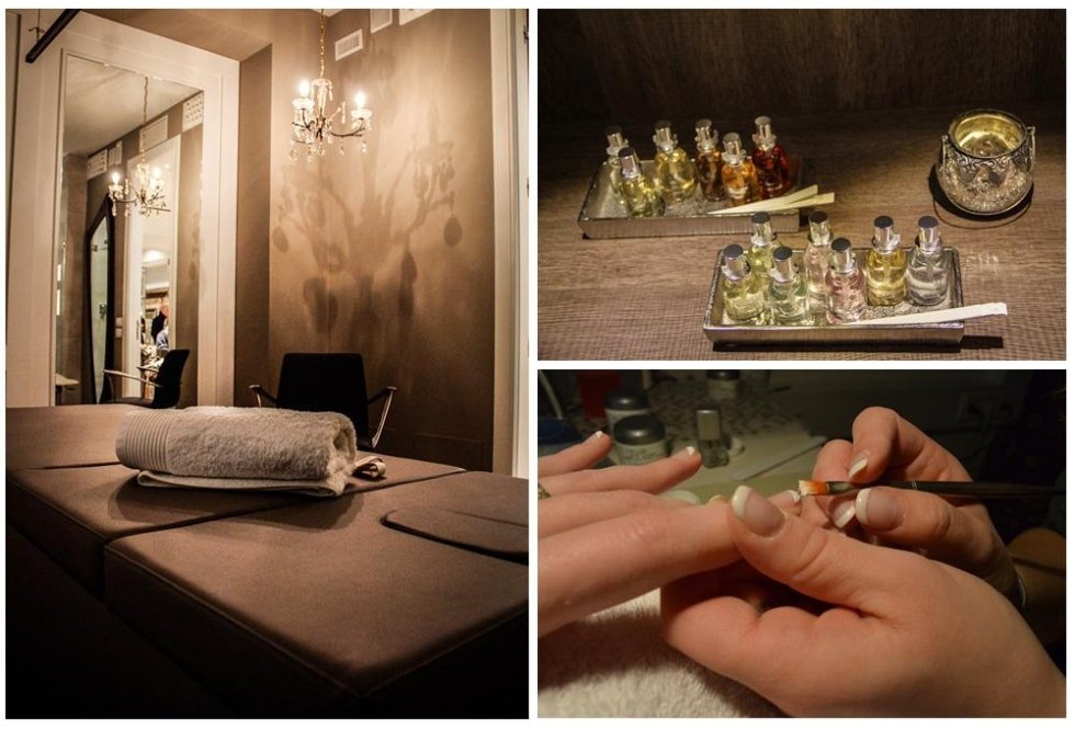 dettagli e decorazioni presenti in salone di bellezza