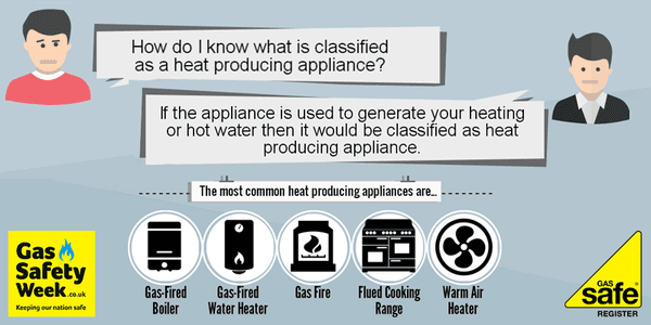 Safe safety week heating appliances icon