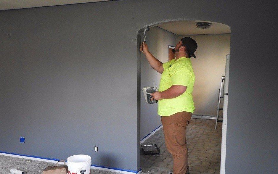 Professional interior painting performed in Cincinnati, OH